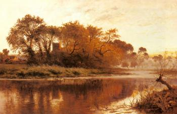 Benjamin Williams Leader : The Last Gleam, Wargrave on Thames