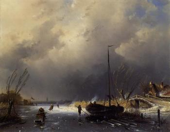 A Winter Landscape with Skaters