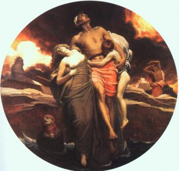 Lord Frederick Leighton : And the sea gave up the dead which were in it