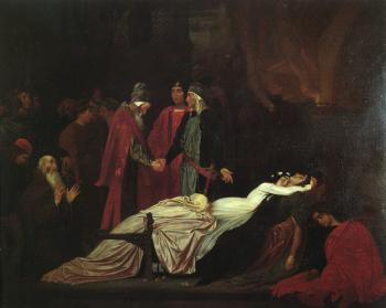 Lord Frederick Leighton : The Reconciliation of the Montagues and Capulets over the De