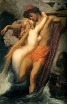 Lord Frederick Leighton : The Fisherman and the Syren