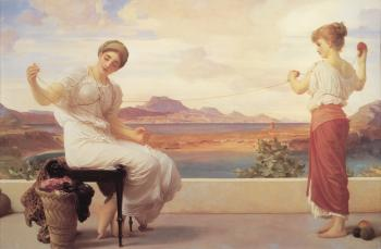 Lord Frederick Leighton : Winding the Skein