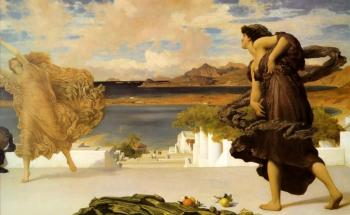 Lord Frederick Leighton : Greek Girls Playing at Ball