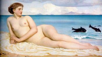 Lord Frederick Leighton : Actaea, the Nymph of the Shore