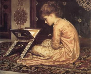 Lord Frederick Leighton : At a Reading Desk