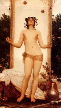 Lord Frederick Leighton : The Antique Juggling Girl