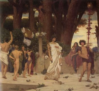 Lord Frederick Leighton : The Daphnephoria, Detail Right