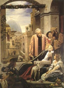 Lord Frederick Leighton : The Death of Brunelleschi