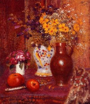 Georges Lemmen : Flowers and Apples