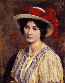 Georges Lemmen : Hat with a Red Ribbon