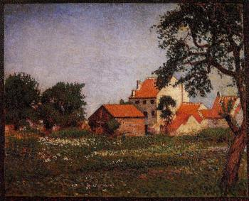 Georges Lemmen : Houses at La Hulpe
