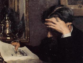 Georges Lemmen : Man Reading