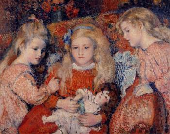 Georges Lemmen : Three Little Girls