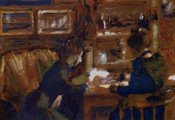 Georges Lemmen : Two Women in an Interior