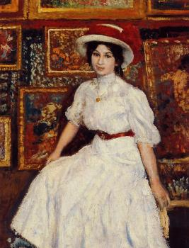 Georges Lemmen : Young Girl in White