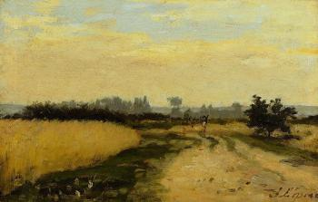 Stanislas Lepine : A Road in the Countryside