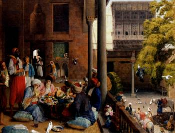 John Frederick Lewis : The midday meal, Cairo