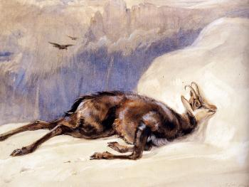 John Frederick Lewis : The Chamois, Sketched In The Tyrol