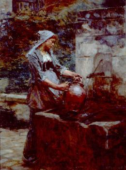 Leon Augustin Lhermitte : A Water Drawer
