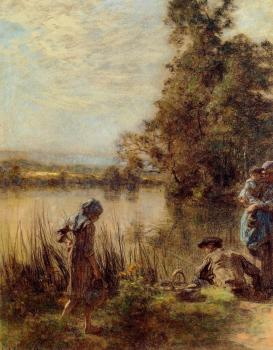 Leon Augustin Lhermitte : Fisherman and His Family