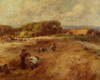 Leon Augustin Lhermitte : Harvesters near the Farm of Sambre