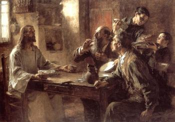 Leon Augustin Lhermitte : Supper at Emmaus