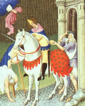 Limbourg Brothers : St. Martin with a Beggar