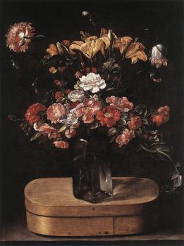 Jacques Linard : Bouquet on Wooden Box
