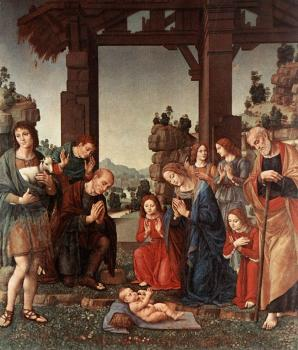 Lorenzo Di Credi : Adoration of the Shepherds