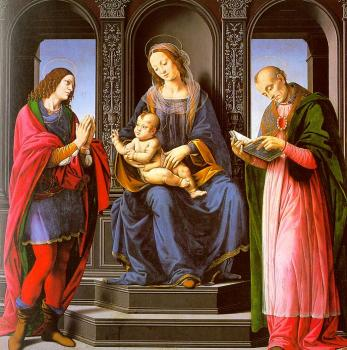 Lorenzo Di Credi : The Virgin and Child with St Julian and St Nicholas of Myra