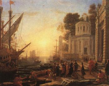 Claude Lorrain : The Disembarkation of Cleopatra at Tarsus
