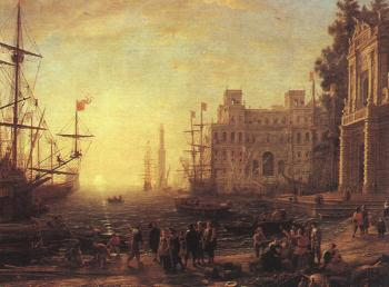 Claude Lorrain : Port Scene with the Villa Medici