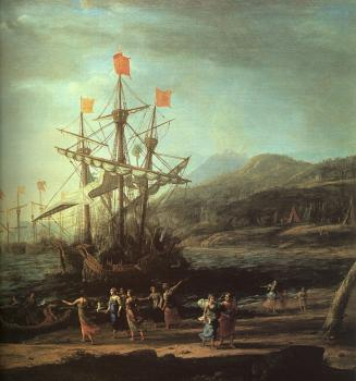 Claude Lorrain : The Trojan Women Setting Fire to Their Fleet
