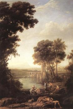 Claude Lorrain : Landscape with the Finding of Moses