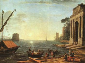 Claude Lorrain : A Seaport at Sunrise