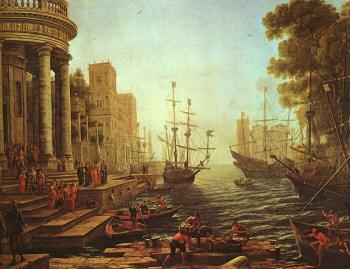 Claude Lorrain : Port Scene with the Embarkation of St Ursula