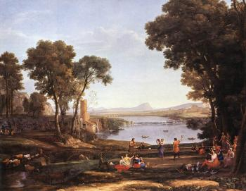 Claude Lorrain : Landscape with Dancing Figures