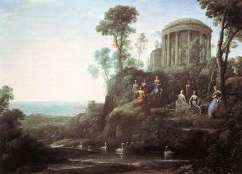 Claude Lorrain : Apollo and the Muses on Mount Helion, Parnassus