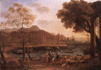Claude Lorrain : Harbour Scene with Grieving Heliades