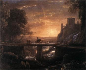 Claude Lorrain : Imaginary View of Tivoli
