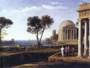 Claude Lorrain : Landscape with Aeneas at Delos