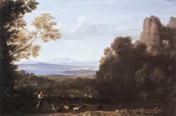 Claude Lorrain : Landscape with Apollo and Mercury