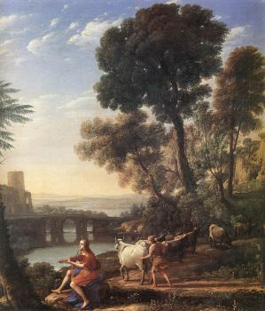 Claude Lorrain : Landscape with Apollo Guarding the Herds of Admetus