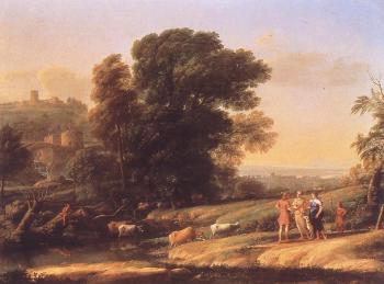 Claude Lorrain : Landscape with Cephalus and Procris Reunited by Diana