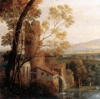 Claude Lorrain : Landscape with Dancing Figures, detail