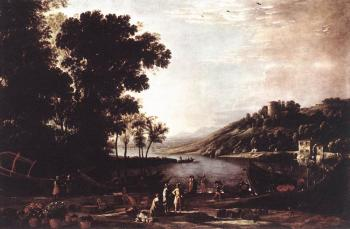 Claude Lorrain : Landscape with Merchants