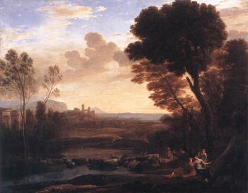 Claude Lorrain : Landscape with Paris and Oenone