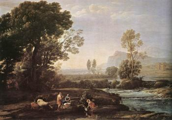 Claude Lorrain : Landscape with Rest in Flight to Egypt