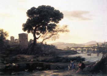 Claude Lorrain : Landscape with Shepherds, The Pont Molle