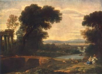 Claude Lorrain : Landscape with the Rest on the Flight into Egypt